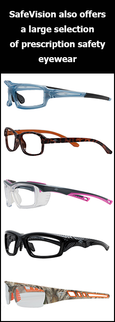 SafeVision also offers a large selection of prescription safety eyewear